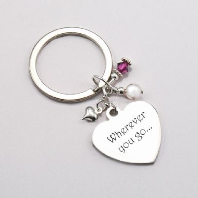 Engraved Birthstone Keyring | Someone Remembered